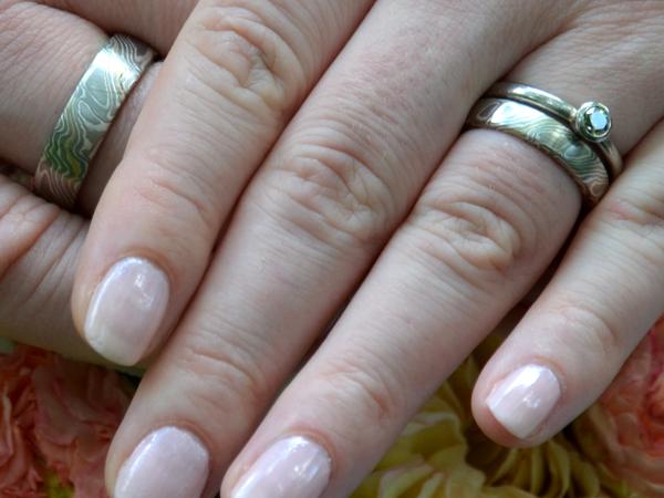 Mokumegane Hochzeit Ringe